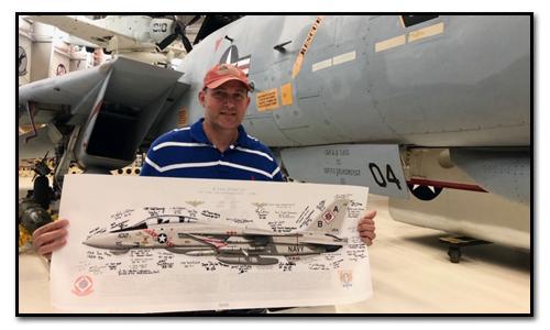 """Custom 40 x 16"""" VF-102 F-14A Tomcat print"""