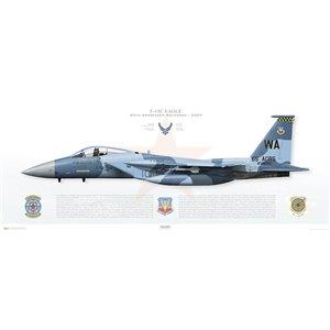F-15C Eagle 57th Wg, 65th Aggressor Squadron, AW/080010 - Nellis AFB, NV - 2007 Squadron Lithograph