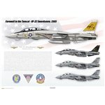 Farewell to the Tomcat, VF-32 Swordsmen, 2005 - Profile Print