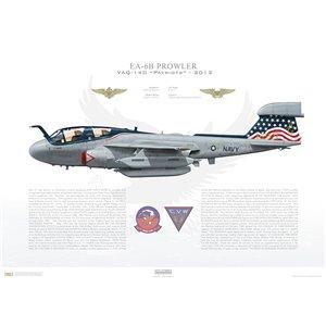 EA-6B Prowler VAQ-140 Patriots,AG500 / 163521. CVW-7, USSDwight D EisenhowerCVN-69 -2013 Squadron Lithograph