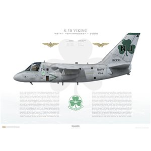 S-3B Viking VS-41 Shamrocks, NJ741 / 160136 - 2006 Squadron Lithograph