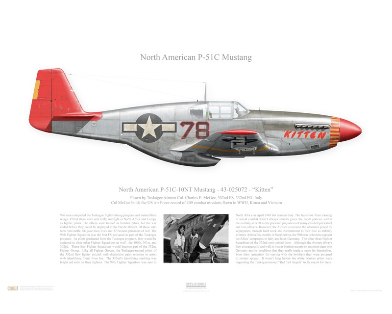 Aircraft Profile Print Of P 51c Mustang Quot Kitten