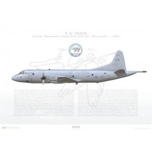 P-3C Orion Patrol SquadronFour Five (VP-45) Pelicans,LN5 / 158569.NAS Jacksonville,FL-1991 Squadron Lithograph