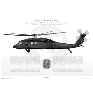 UH-60L Blackhawk, Delta Troop, 1-230th Air Cavalry Squadron - Tennessee Army National Guard Squadron Lithograph
