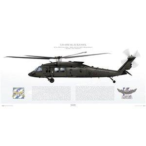 UH-60M Blackhawk, 3rd Aviation Regiment, 4th BattalionSquadron Lithograph