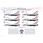 F-16C Fighting Falcon - USAF Thunderbirds - Profile Print