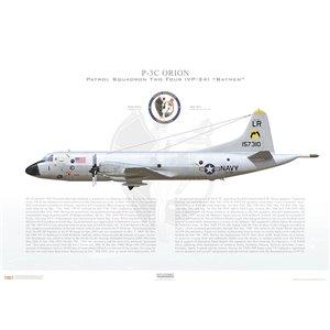 P-3C Orion Patrol SquadronTwo Four (VP-24) Batmen,LR1 / 157310.NAS Jacksonville,FL- Squadron Lithograph