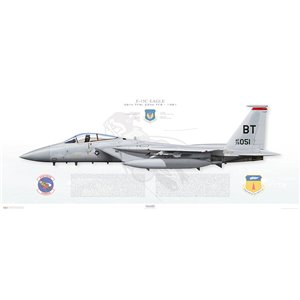 F-15C Eagle 36th Tactical Fighter Wing, 22nd Tactical Fighter Squadron, BT/79-051 - Bitburg AB, Germany - Operation Desert Storm, 1981 - Squadron Lithograph