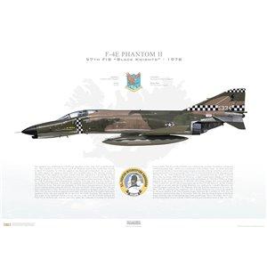 "F-4EPhantom II 57th Fighter Interceptor Squadron ""Black Knights"", 66-334 -NAS Keflavik, Iceland / 1978 - Squadron Lithograph"