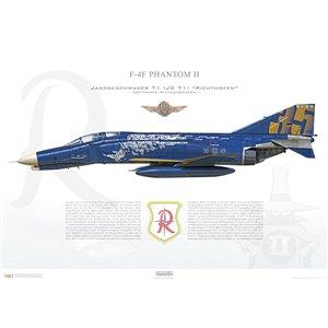 "F-4F Phantom II, Jagdgeschwader 71 (JG 71) ""Richthofen"", 38+49, Luftwaffe Wittmundhafen Air Base, ""35 Years F-4F"", 2008 Squadron Lithograph"