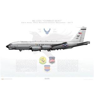 RC-135URivet Sent 55thWing, 45th Reconnaissance Squadron, 64-14849 - Offutt AFB, NE - 2017 Squadron Lithograph
