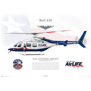 Bell 430 - San Antonio AirLife, N557UH, New Braunfels, TX - Profile Print