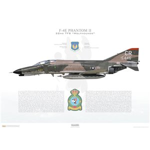 "F-4E Phantom II 32nd Tactical Fighter Squadron, ""Wolfhounds"", CR 68-446 - RNLAF Soesterberg AB, The Netherlands - Squadron Lithograph"
