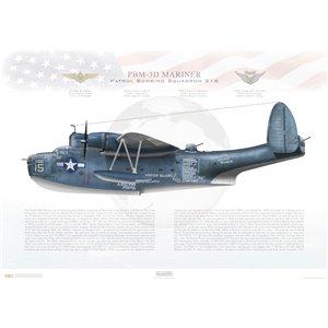 PBM-3D Mariner Patrol Bombing Squadron 216 (VPB-216) - Squadron Lithograph