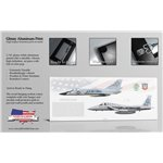 318th FIS Transition - F-106A Delta Dart to F-15A Eagle - Aluminum Print