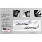 318th FIS Transition - F-106A Delta Dart to F-15A Eagle - Aluminum Print