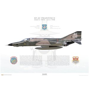 RF-4C Phantom II 460th Tactical Reconnaissance Wing, 16th Tactical Reconnaissance Squadron, AE 66-430 - Tan Son Nhut Air Base, Saigon, Vietnam, 1969 - Squadron Lithograph