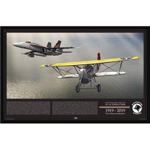 Special Edition Print -VFA-14 Tophatters Centennial - 1919-2019. F/A-18E Super Hornet - FB-5 Hawk