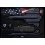 SR-71A Blackbird 61-7972 - Profile Print