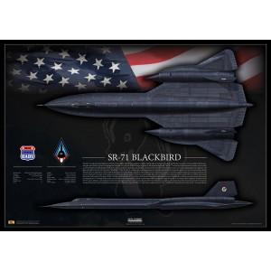 "SR-71A Blackbird 61-7972 ""Skunkworks""- Special Edition Print"