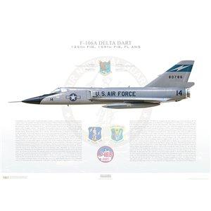 F-106A Delta Dart 125th Fighter Interceptor Group, 159th Fighter Interceptor Squadron (FIS), 58-0786 - Jacksonville ANGB, FL - Squadron Lithograph