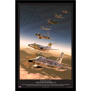 United States Air Force - Century Series Fighters (North American F-100 Super Sabre, McDonell F-101 Voodoo, Convair F-102 Delta Dagger, Lockheed F-104 Starfighter, Republic F-105 Thunderchief, Convair F-106 Delta Dart, North American F-107 Ultra Sabre)