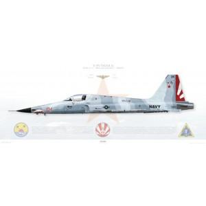 F-5N Tiger II VFC-111 Sundowners, AF104 / 761551. TSW-20 - 2007 Squadron Lithograph
