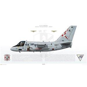 S-3B Viking VS-22 Checkmates, AA700 / 159732. CVW-17, 2007 Squadron Lithograph
