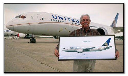 United Airliners Boeing 787 Dreamliner Custom Print