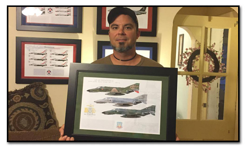 F-4 Phantom Aircraft Profile Print