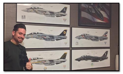 F-14 Tomcat Aircraft Profile Prints