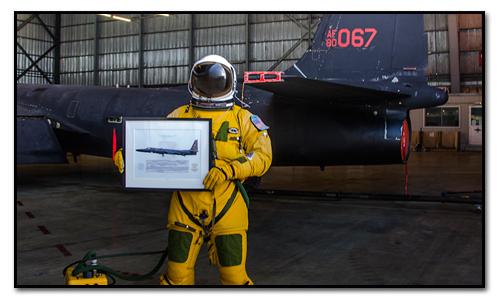 U-2 aircraft profile print squadron print
