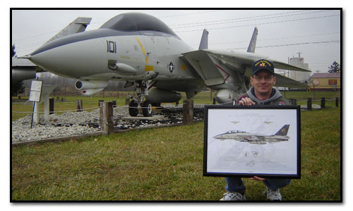 F-14B Tomcat VF-11 Red Rippers print with Andy Wagstaff