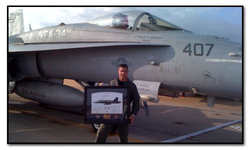 VFA-34 Blue Blasters F/A-18C Hornet. Thank you for LCDR Doug Hood